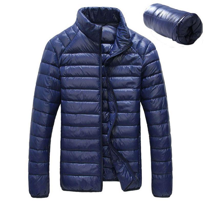 2018 New Men Winter Jacket Ultra Light 90% White Duck Down Jackets Casual Portable Winter Coat for Men Plus Size Down Parkas
