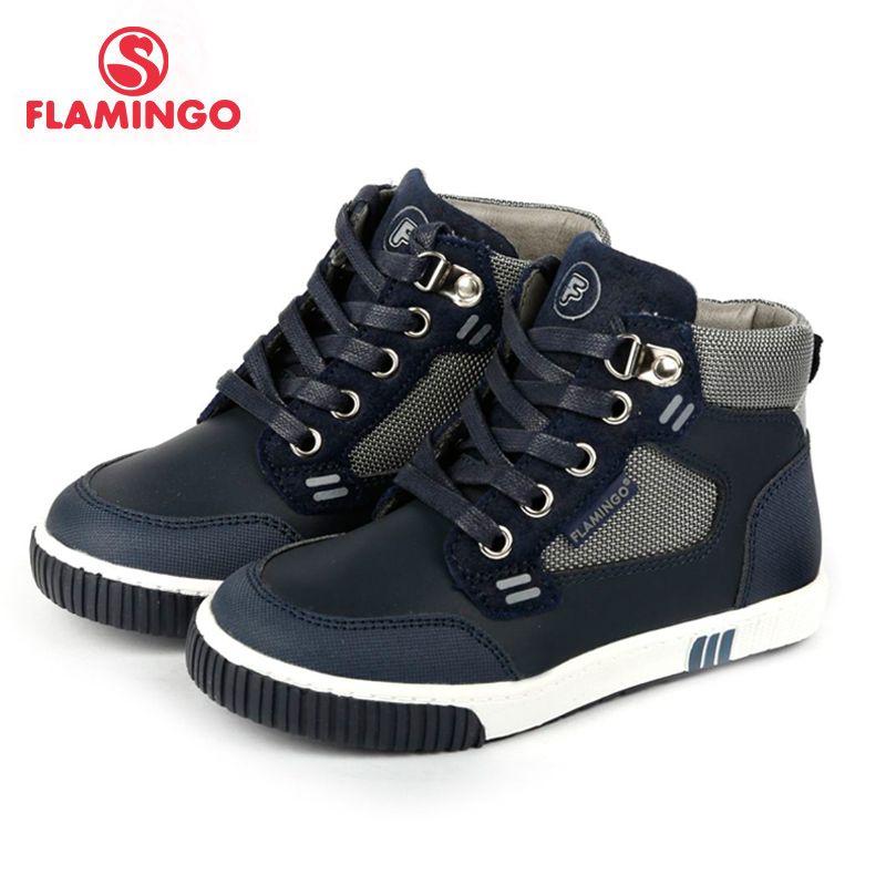 Фламинго известные бренды Новинка 2017 коллекции осень/зима Мода для детей сапоги высокого качества Нескользящие Ботинки для мальчика 72b-xy-0353