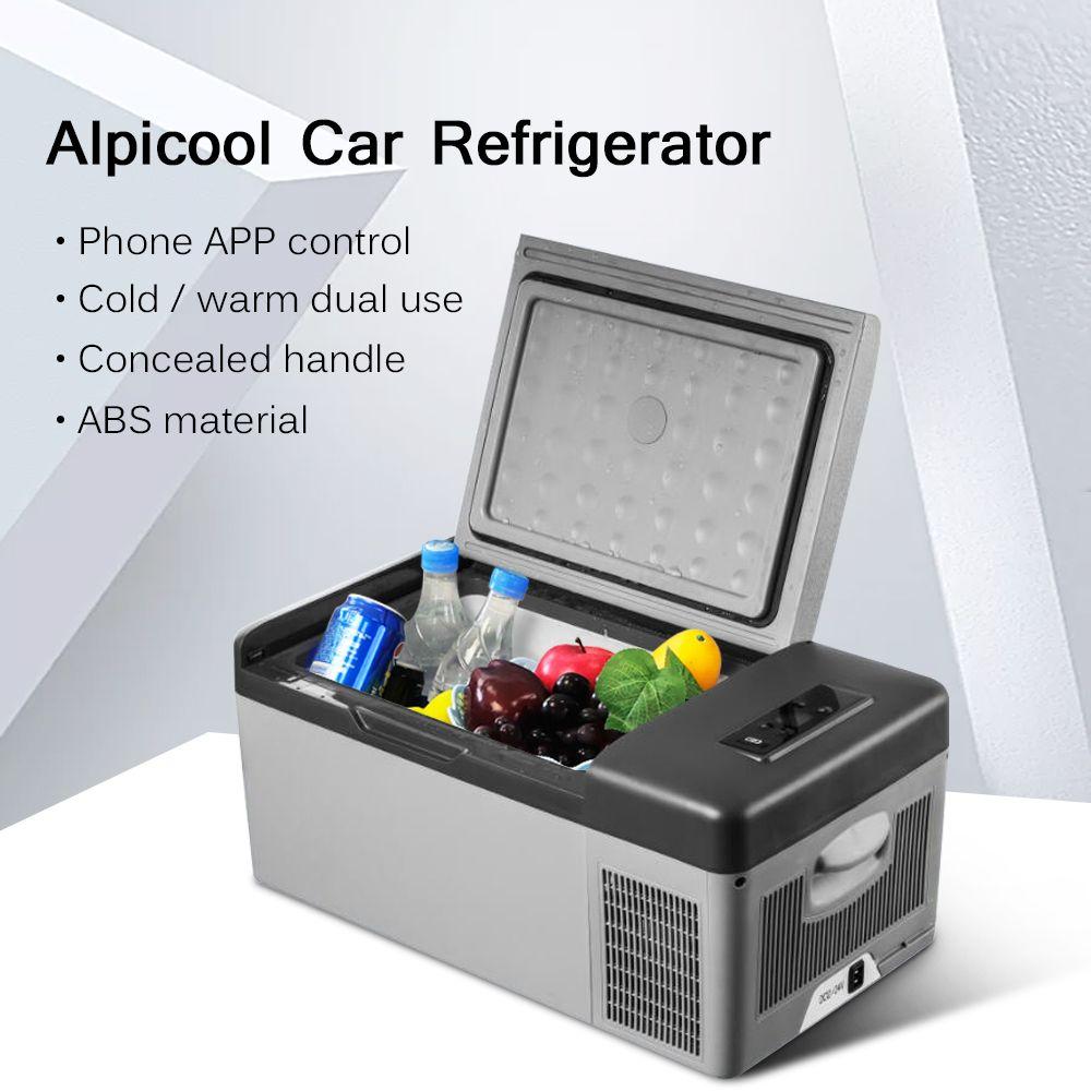 Tragbare 15L Mini Auto Kühlschrank APP Conrtol Mini Kompressor Kühlschränke Kalt/Warm Dual Verwenden DC12V/24 V Schnell kälte