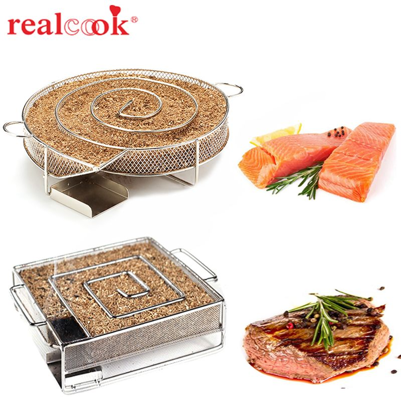 Cold Smoke Generator Charcoal Barbecue Grill Cooking Tools Wood <font><b>Chip</b></font> Smoker Smoking Outdoor Grill For BBQ Tool Accessories
