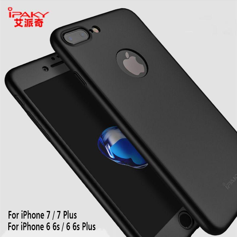 NOUVEAU Pour Apple iPhone X Cas iPaky iPhone 6 6 S 7 8 plus la Couverture 360 Protecteur PC iPhone8 Téléphone Shell Cadeau En Verre Trempé Antichoc