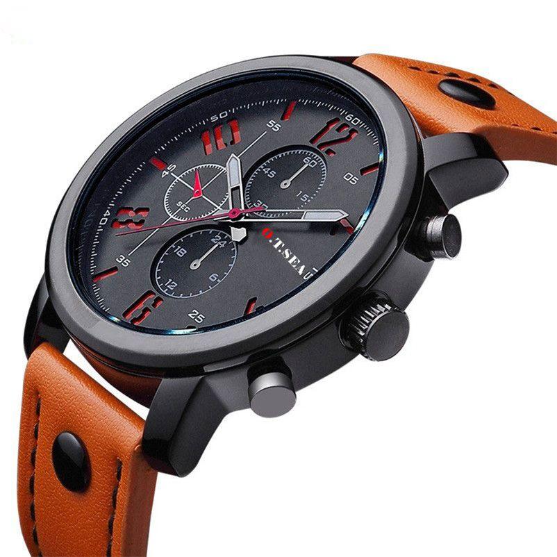 O.T.SEA Fashion Watches Men Casual Military Sports Watch Quartz Analog Wrist Watch Clock Male Hour Relogio Masculino Best Gift