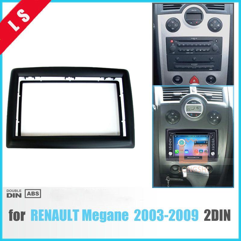 2 DIN Adapter CD Trim Panel Stereo Interface Radio Car Frame Panel Fascia for RENAULT Megane II 2003-2009 , 2Din / 2 din
