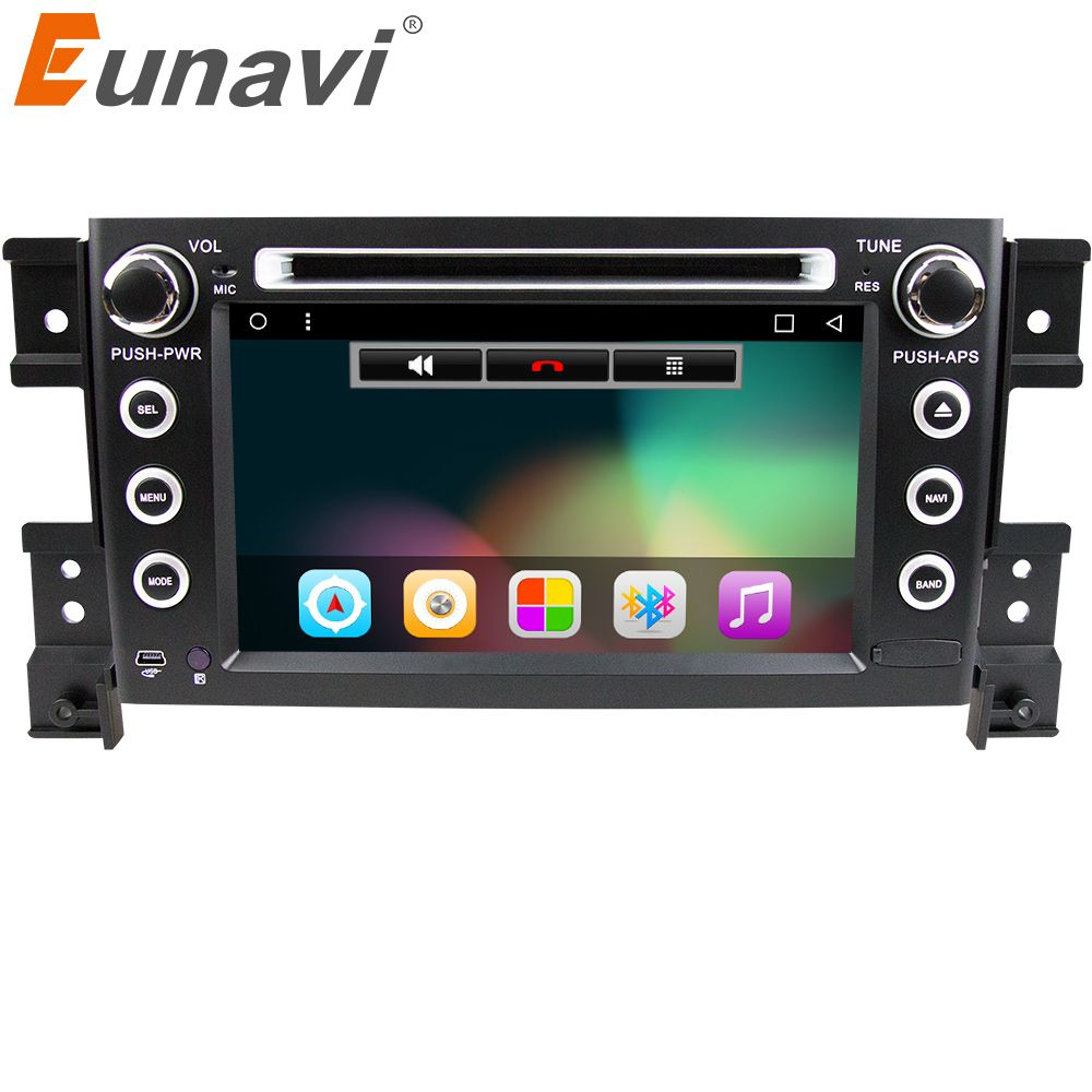 Eunavi 2 din android 7.1 car DVD player for Suzuki grand vitara car radio stereo gps with steering wheel camera DVR Map IN DASH