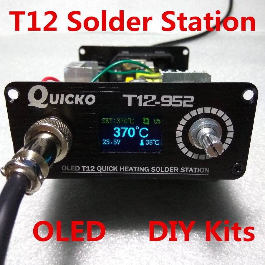 T12 solder iron DIY kits/Unit QUICKO Soldering Station parts/OLED DigitalTemperature Controller/T12-952Meatal case/T12 OLED iron