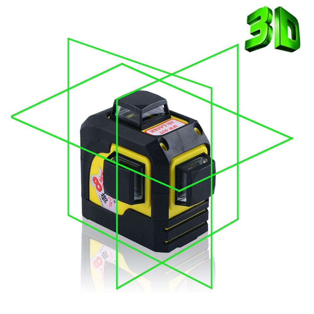 Firecore 3D 93TG <font><b>12Lines</b></font> Green Laser Levels Self-Leveling 360 Horizontal And Vertical Cross Super Powerful Green Laser Beam Line