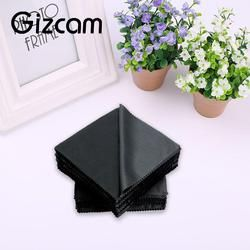 10pcs/lot 14x14cm Camera Lens Cleaning Cloth Wipes Square Eyeglass LCD Screen Mobilephone Microfiber Cleaner Cloth Black