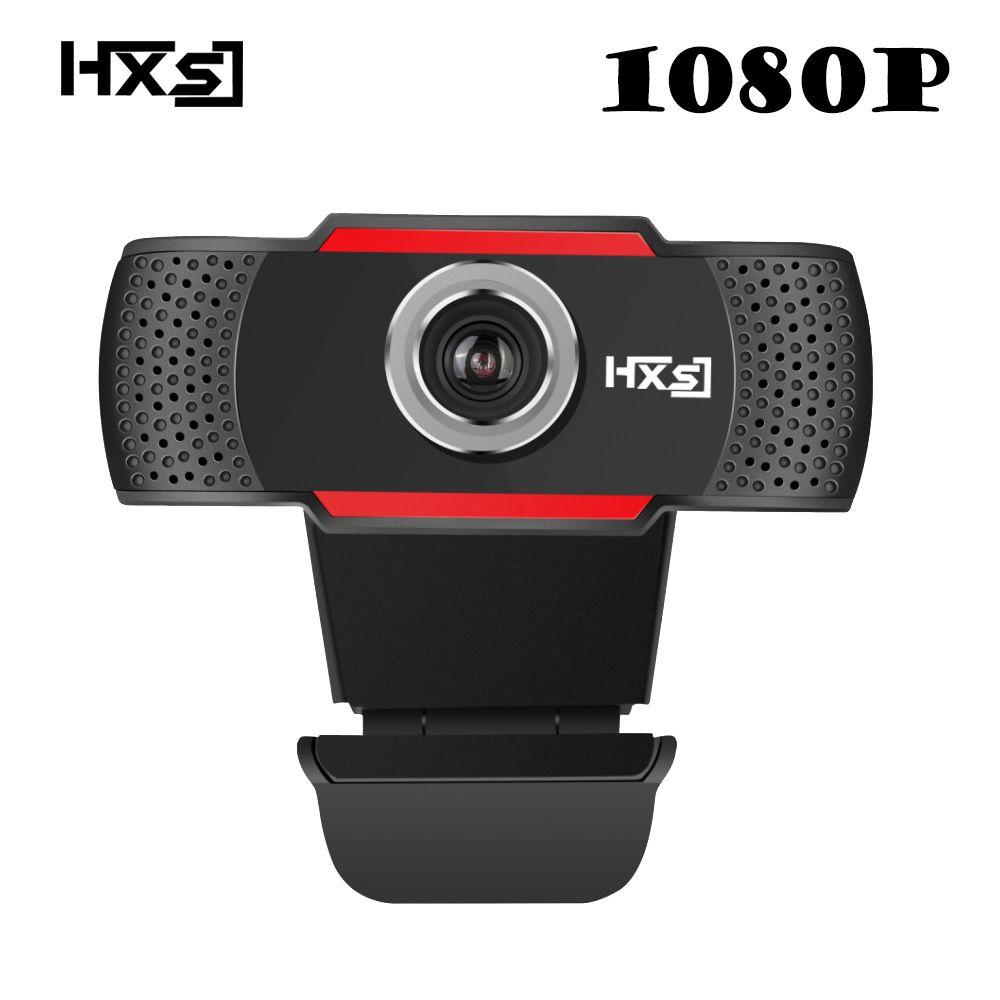 HXSJ USB Web Camera 1080P HD 2MP Computer Camera Webcams Built-In Sound-absorbing Microphone 1920 *1080 Dynamic Resolution