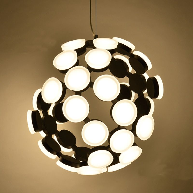 Factory direct post-modern simple personality LED broken light body ion atomic structure acrylic Led Pendant Lamps free shipping