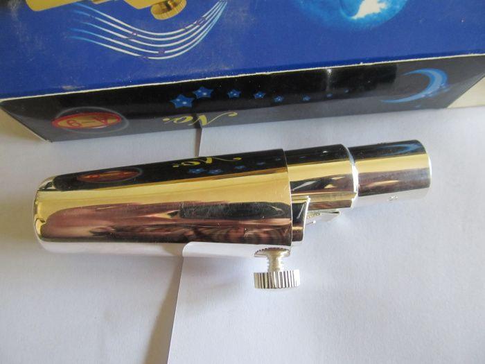 Neue Professionelle individuelles LOGO Ausgezeichnete vergoldet Saxophon Mundstück für Alto Sax Saxophone Neue 7
