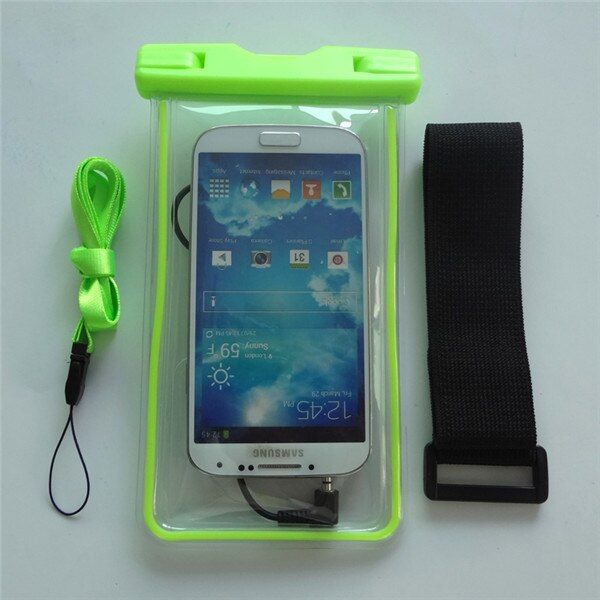 Universal 5.2 Inch Luminous PVC Waterproof Case Cover Against Water With Neck Hanging Earphone Jack