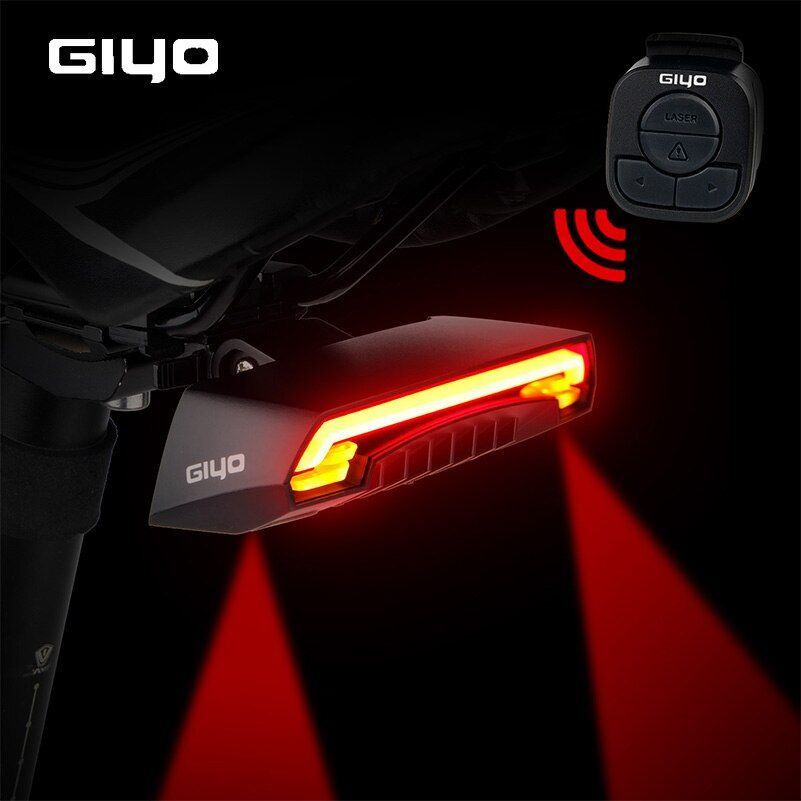 GIYO Battery Pack Bicycle Light USB Rechargeable Mount Bicycle Lamp Rear <font><b>Tail</b></font> Light Led Turn Signals Cycling Light Bike Lantern