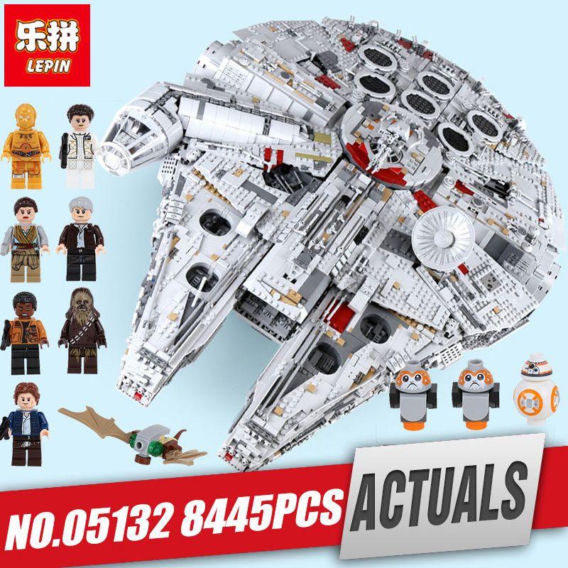 Lepin 05132 05033 star plan series Toys Wars destroyer millennium falcon compatible Legoing 75192 bricks model building blocks