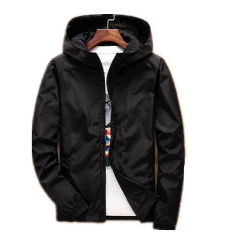 New 2018 Fashion Spring Autumn Jacket Men Fat People Hooded Jackets Windbreaker Plus Size S-7XL