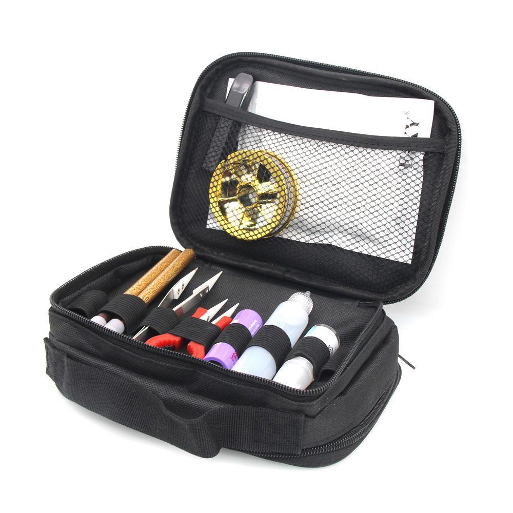 Double-deck Vape Pocket Vapor Tool Wire Bottle Kit Bag For RTA RBA RDA Mods Box Battery DIY Tools Carry Bag Case Vape Pocket