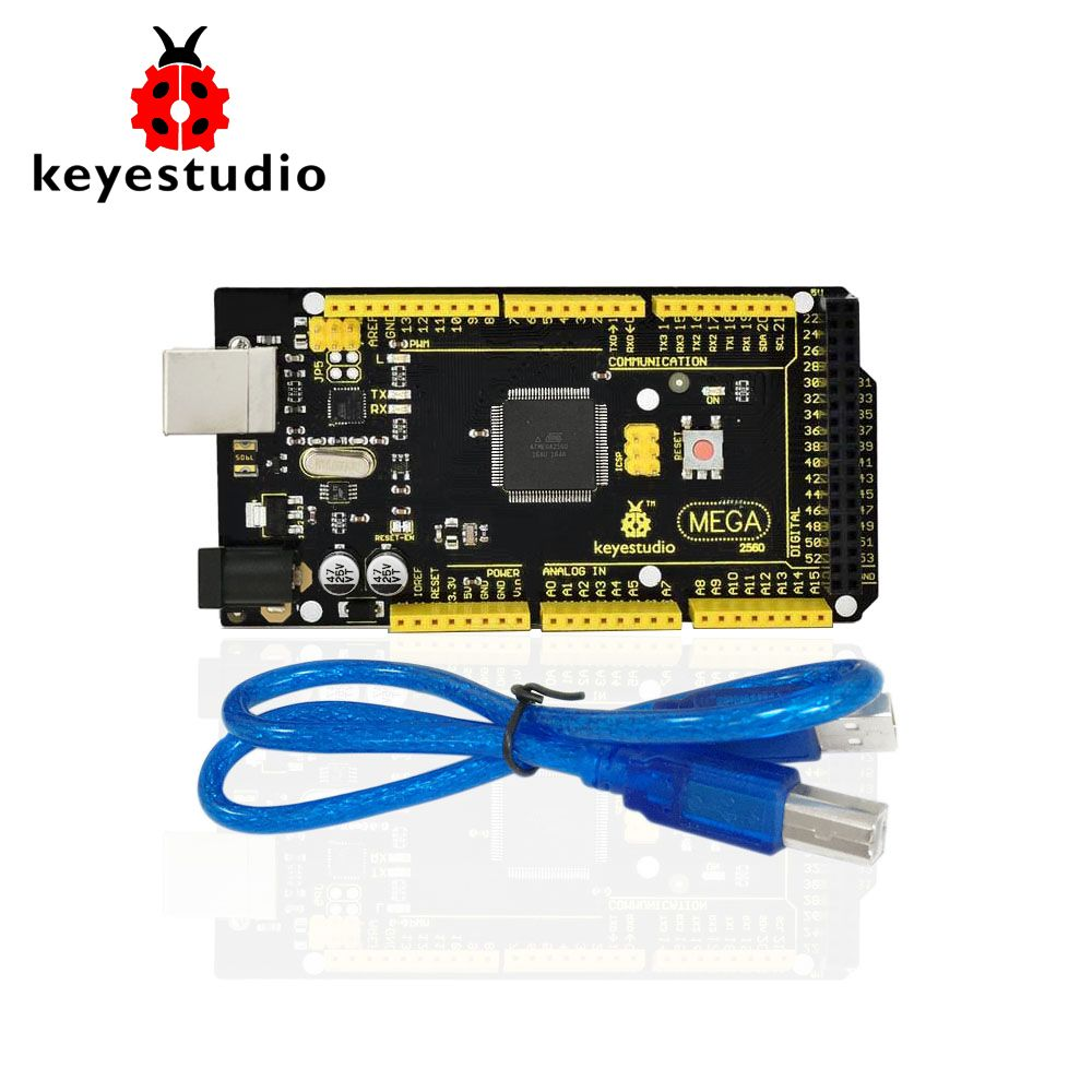 <font><b>1Pcs</b></font> Keyestudio MEGA 2560 R3 Development Board+ <font><b>1Pcs</b></font> USB cable+Manual For Arduino Mega