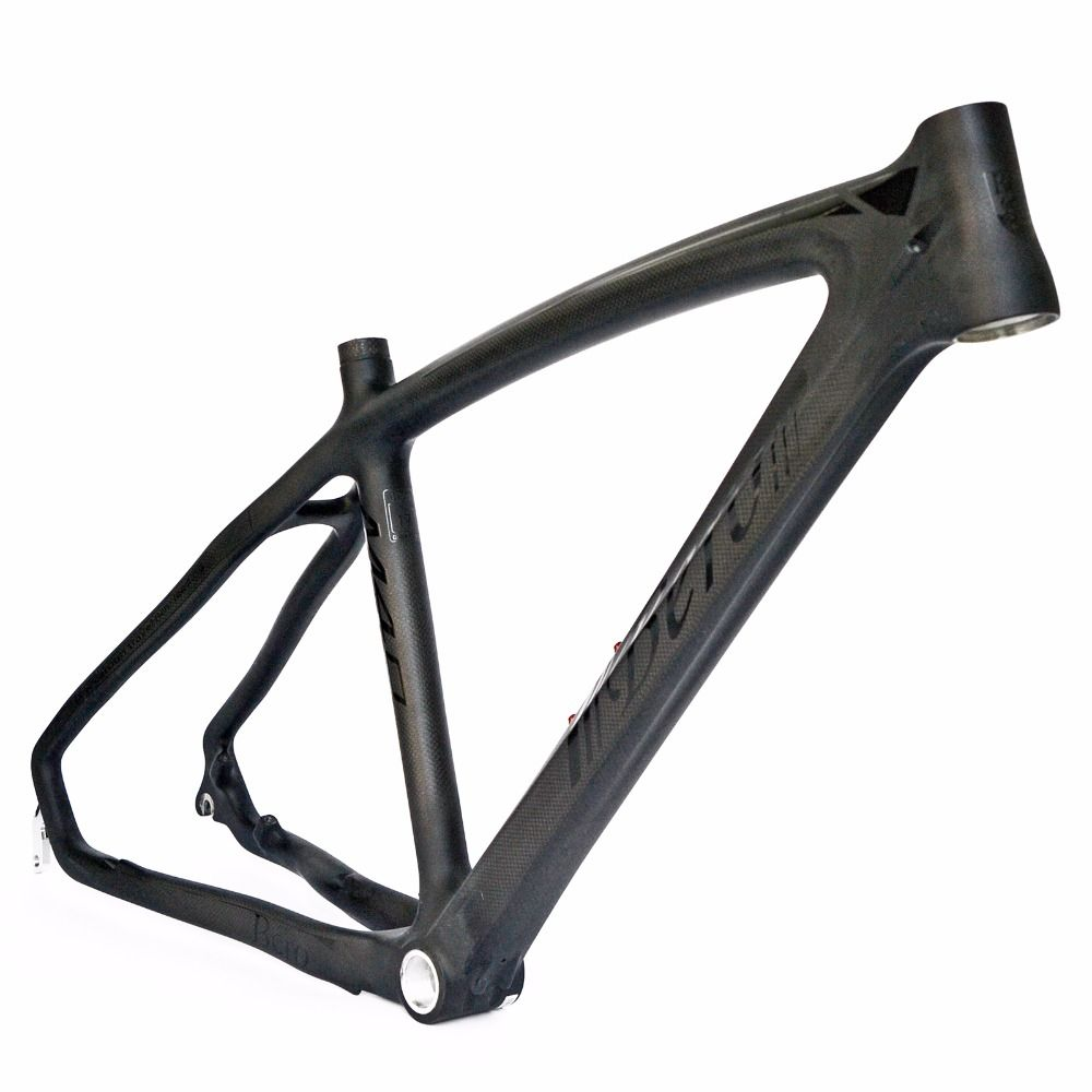 BEIOU 3k Carbon Fiber Mountain Bike Frame T800 Ultralight 26-Inch MTB Matte Unibody Internal Cable Routing B024