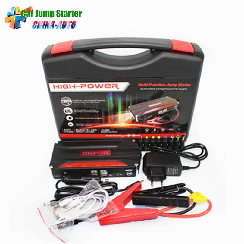 2018 New High Power Multi-function Portable Car Jump Starter Power Bank Emergency 12V Car Battery Jump Starter Booster