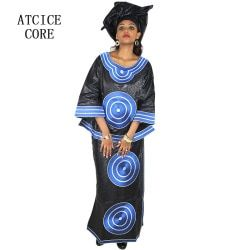 african dresses for women 100% COTTON NEW AFRICAN FASHION DEISGN BAIZN RICHE EMBROIDERY DESIGN DRESS african clothes DP192#
