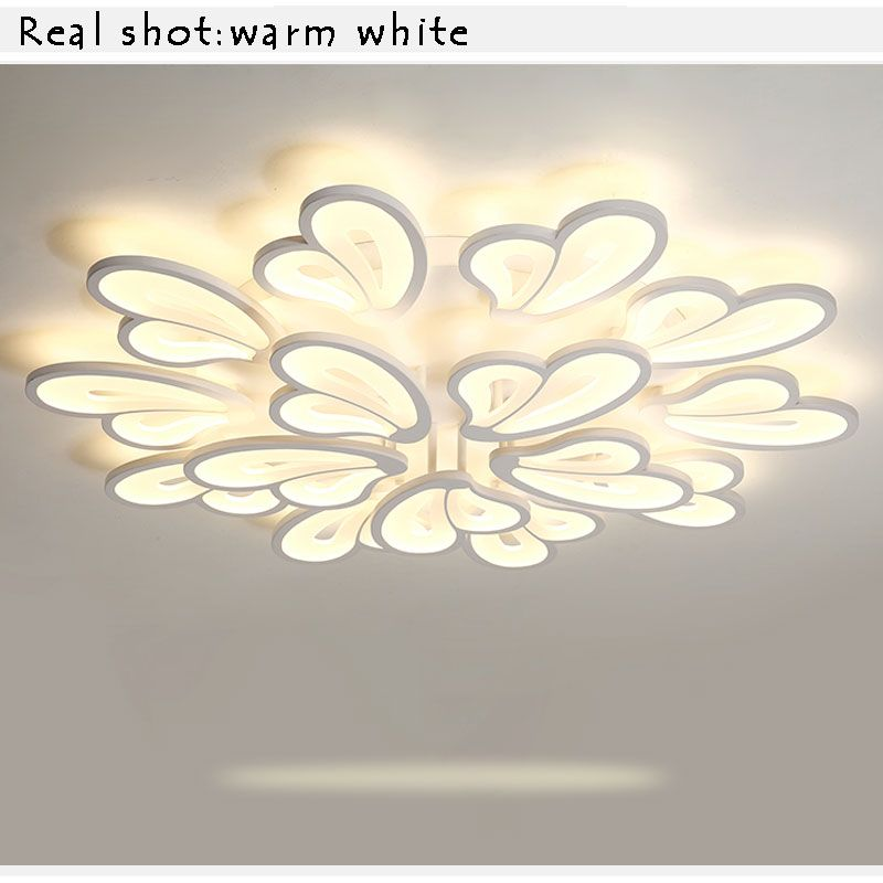 AC110V 220 White Modern LED Chandelier Luminaires Led Ceiling Chandelier Lighting Fixtures For Living room Bedroom Kitchen Lamp