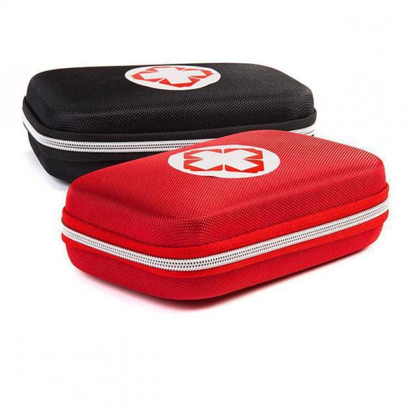 Boîte rouge et noire Kits de premiers soins boîte de stockage de médicaments de survie véhicule de voyage trousse de sac médical d'urgence Camping