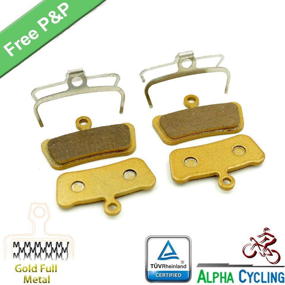 Fahrrad Scheibenbremsbeläge für SRAM Guide RSC-BOXEN, RS, R, Avid Trail, 4 Pistions Scheibenbremse, Gold Metall, 2 Para/ORD