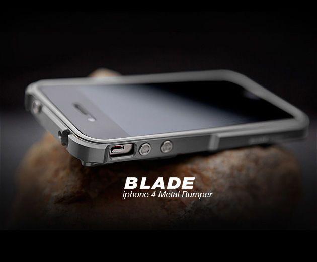 Cadre de pare-chocs en aluminium TX Blade i4 capa fundas pour iPhone4 iPhone 4 S pare-chocs en métal + tournevis + 2 Film + 1 boîte