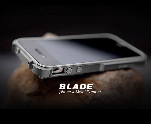 TX Lame i4 capa fundas cadre De Protection en Aluminium Pour iPhone4 iPhone 4S Pare-chocs en métal + tournevis + 2 Film + 1 boîte