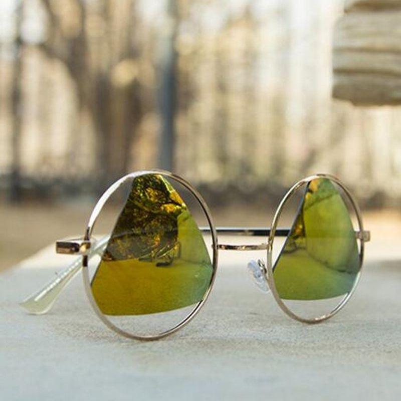 2017 NEW AGZ01-AGZ08 Fashion lens Vintage Round Sunglasses men Brand Designer Sun Glasses men