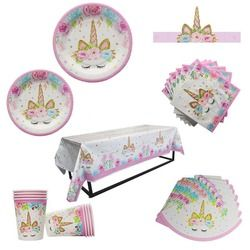 Unicorn Party Kits Tablecloths Event & Party Tablecover Birthday Party Decoration Kids Tableware Baby Shower Party Supplies