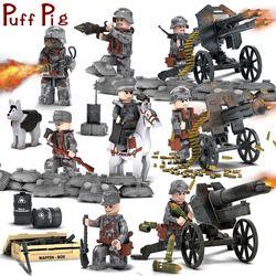 8 Buah/Set Tokoh Militer dengan Senjata Blok Bangunan Set Kompatibel Secara Terbuka Tentara Prajurit Batu Bata Hadiah Mainan untuk Anak-anak