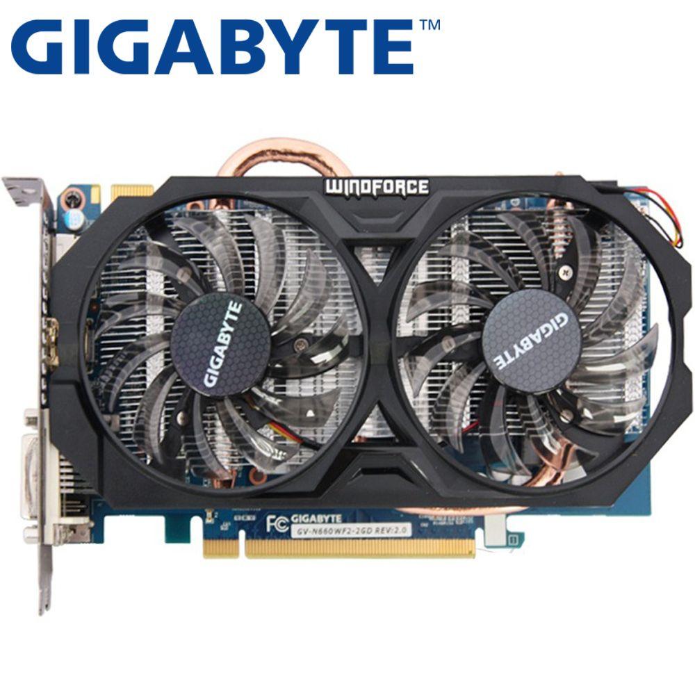 GIGABYTE Grafikkarte Original GTX 660 2 GB 192Bit GDDR5 Video Karten für nVIDIA Geforce GTX660 Hdmi Dvi Verwendet VGA Karten Auf Verkauf