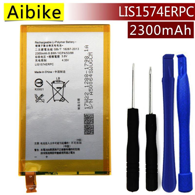 LIS1574ERPC Aibike Nueva batería original del teléfono móvil Para SONY Xperia E4 E2003 E2033 E2105 Batería 2300 mAh Reemplazo Real