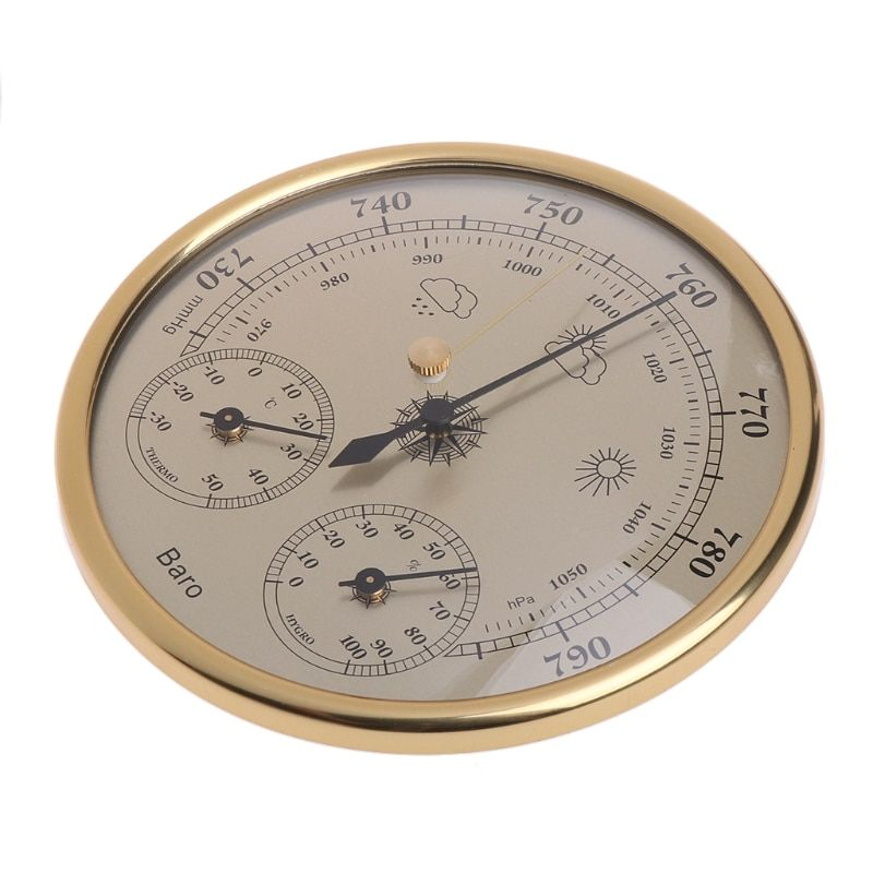 Wall Mounted Household Barometers Thermometer Hygrometer High Accuracy Pressure Gauge Air Weather Station Hanging Instrument
