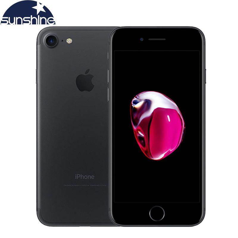 Original Unlocked Apple iPhone 7 4G LTE Smartphone 2G RAM 256GB/128GB/32GB ROM IOS 10 Quad Core 4.7''12.0 MP Mobile phone