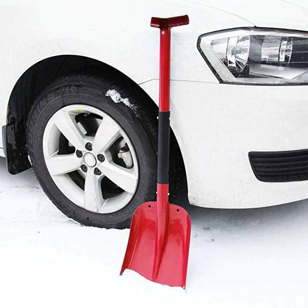 Enhanced XL Aluminum Alloy Telescopic Snow Shovel Portable Shovel With Cutter Saw Car Snow Ice Scraper for Breaking Sawing Ice