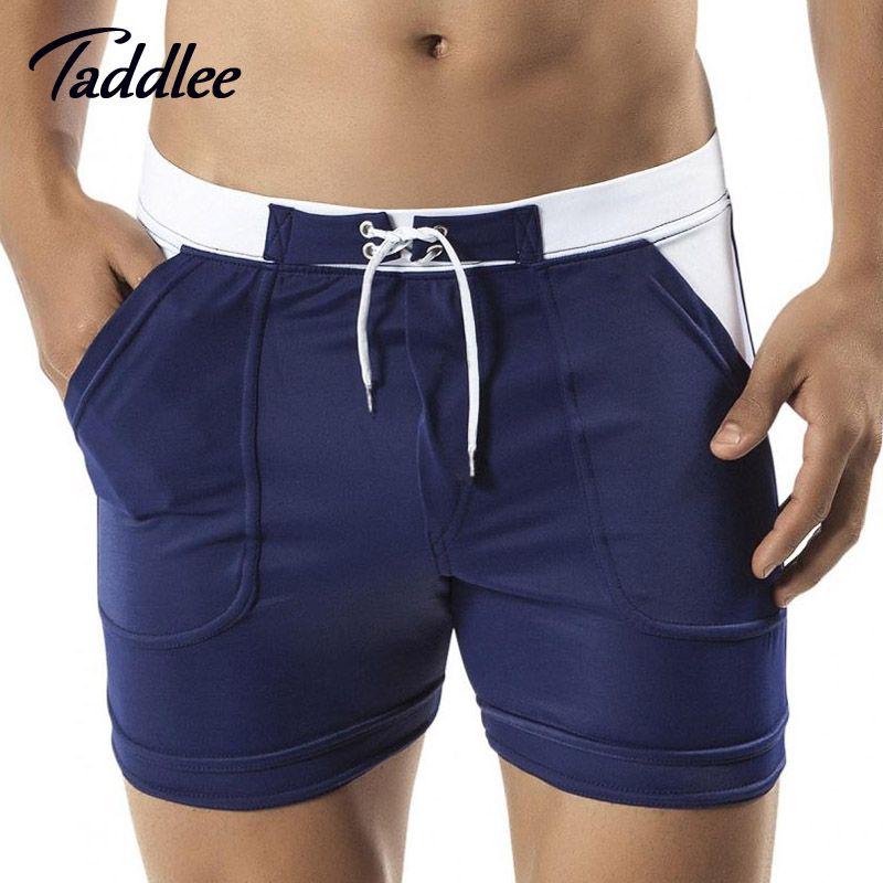 Taddlee Brand Mens Man Swimwear Swimsuits Swim Boxer Board Beach Shorts Trunks Bathing Suits Gay Men <font><b>Surf</b></font> Boardshorts Sport Gay