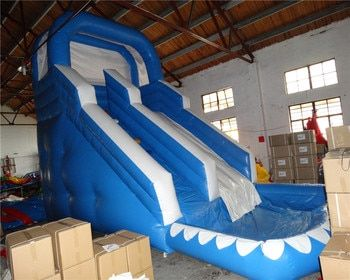 Hot popular  inflatable water slide for adults and kids/ new design inflatable slide with pool