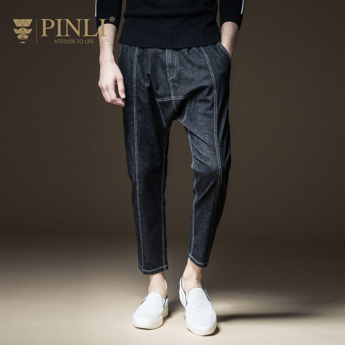 Pinli Vente Acétate Zipper Fly Produit 2017 Automne Nouveau Mode Masculine, Denim Jeans, Haren Pantalon, pantalon Pour Hommes, B173116083