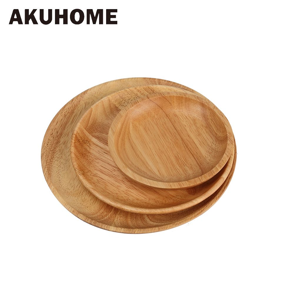 Assiettes en bois de hêtre de haute qualité vaisselle en bois de hêtre plat à Sushi fait à la main pour des utilisations quotidiennes ou des cadeaux