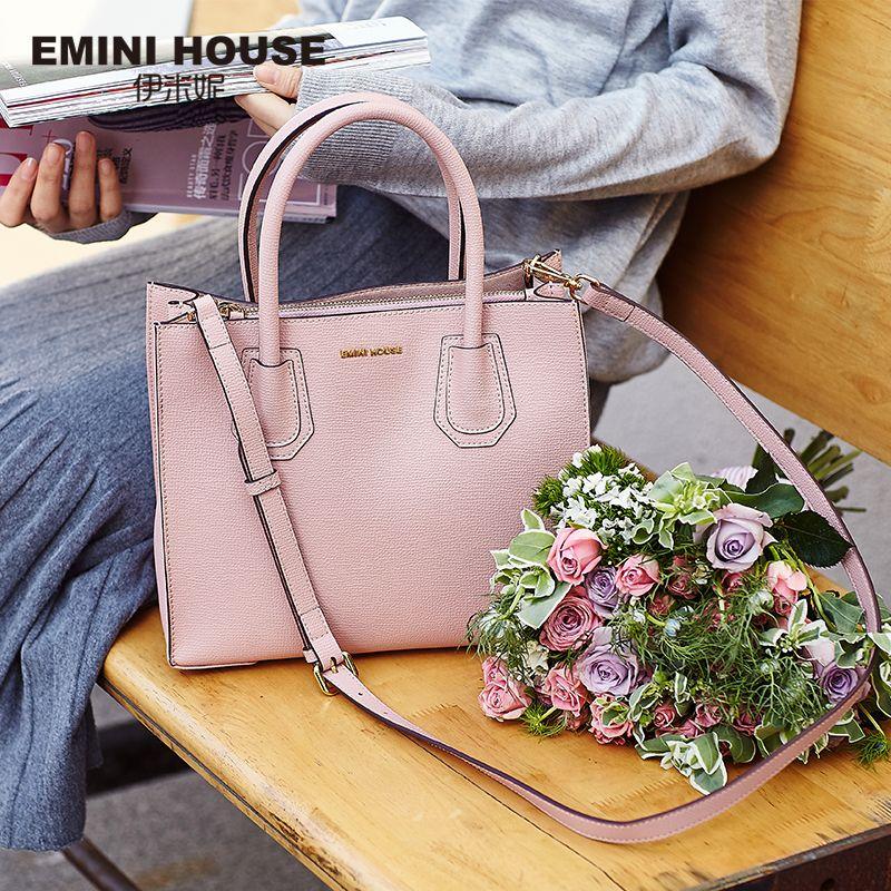 EMINI HOUSE Tote Bag Split Leather Luxury Handbags Women Bags Designer Crossbody Bags for Women Shoulder Bags Lady Handbags