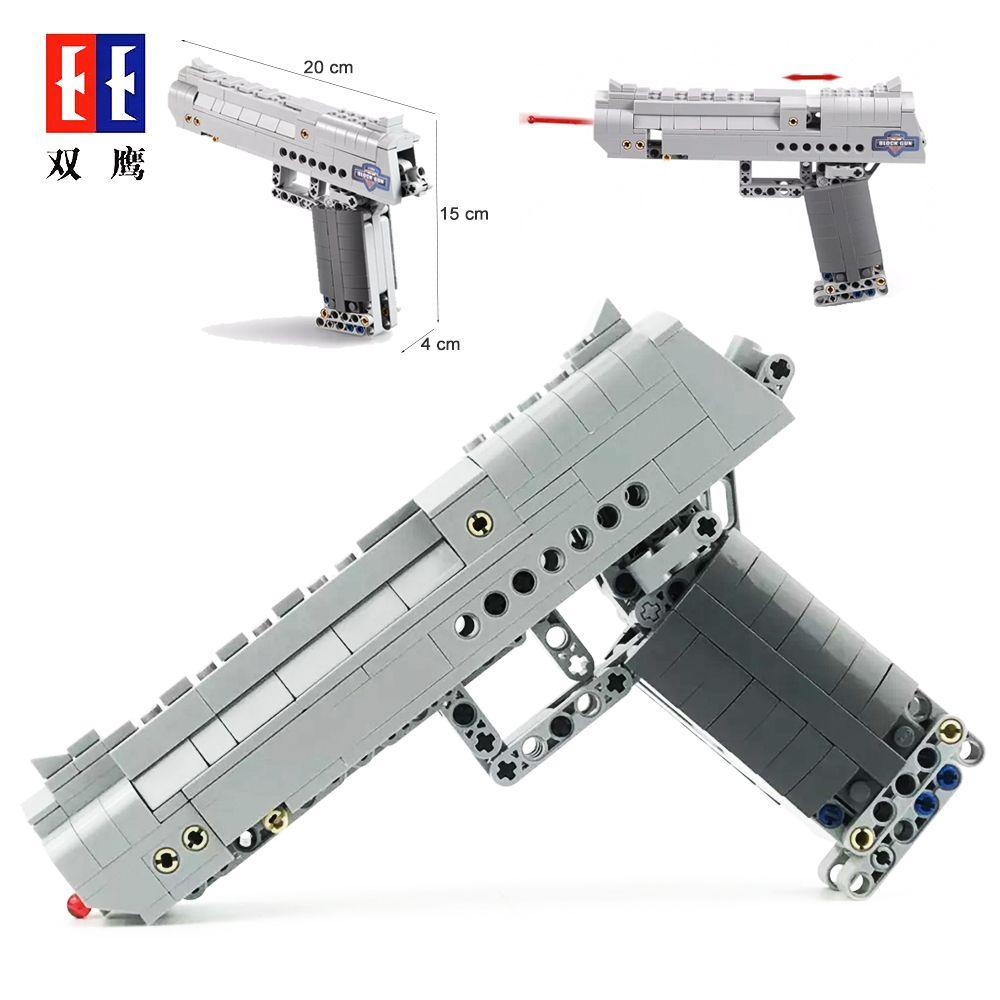 Fit  Technic Series Gun Handgun Pistol Can Fire Bullets Set Desert Eagle & M23 Building Blocks Toys For Kids Boys Gifts