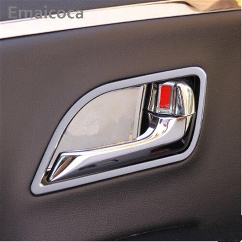 Emaicoca car styling interior door handle decoration ring sticker case For Kia RIO K2 2011-2016 auto accessories free shipping