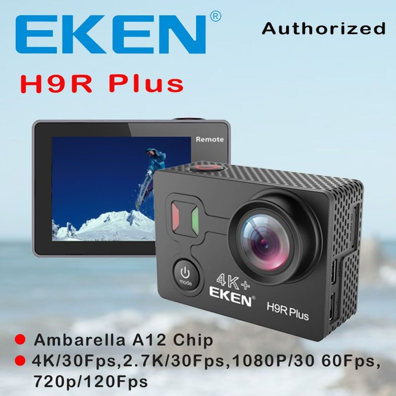 EKEN H9R Plus Action Camera HD 4K 30FPS Ambarella A12 Chip 30M Waterproof Action Cam 14MP 2.0' Screen Go Outdoor Sport Camera