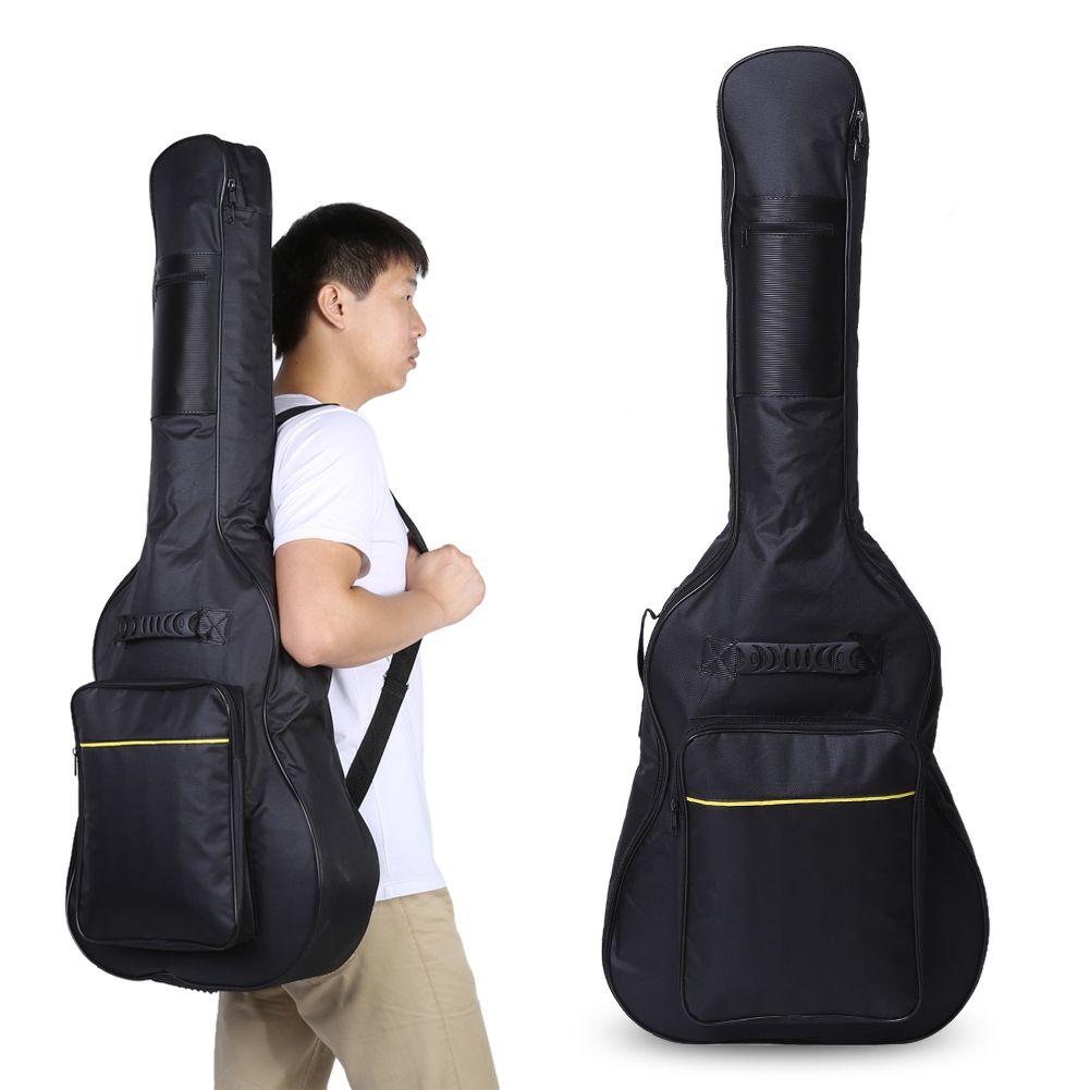 1Pcs Guitar Bag Padded Protective Case Adjustable Shoulder Straps Classical Acoustic Guitar Carry Bags Balck
