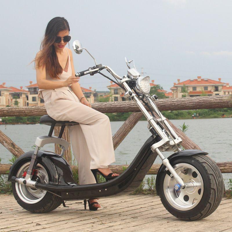 OPTIONAL elektrische harley motorrad 60 V/20ah Bürstenlosen Erwachsenen Elektroroller, 2 Räder E-Roller