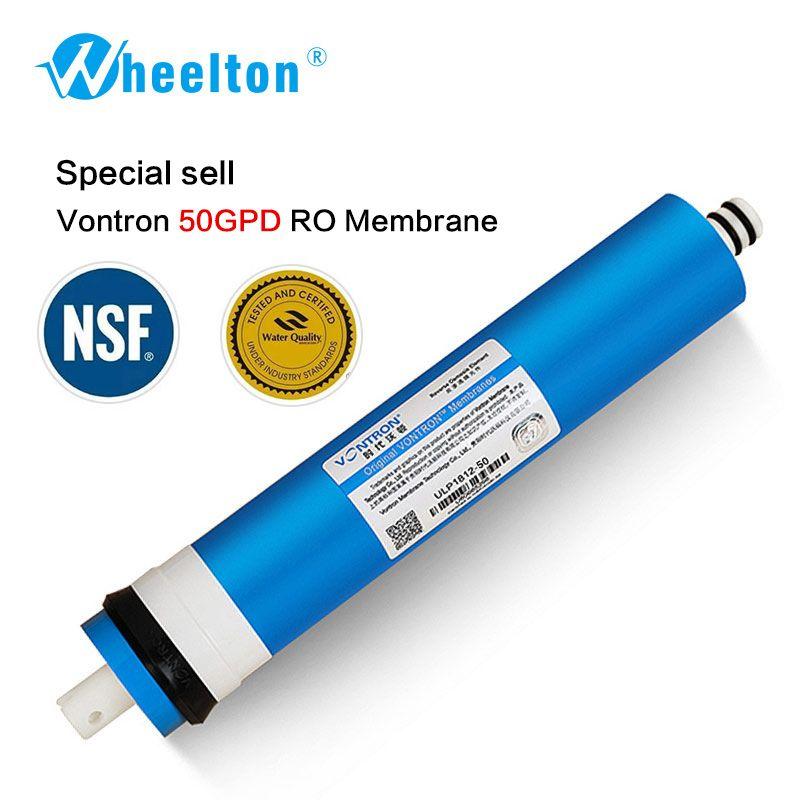 Nouveau Vontron 50 gpd RO Membrane pour 5 étapes filtre à eau purificateur traitement système d'osmose inverse certifié à NSF/ANSI livraison gratuite