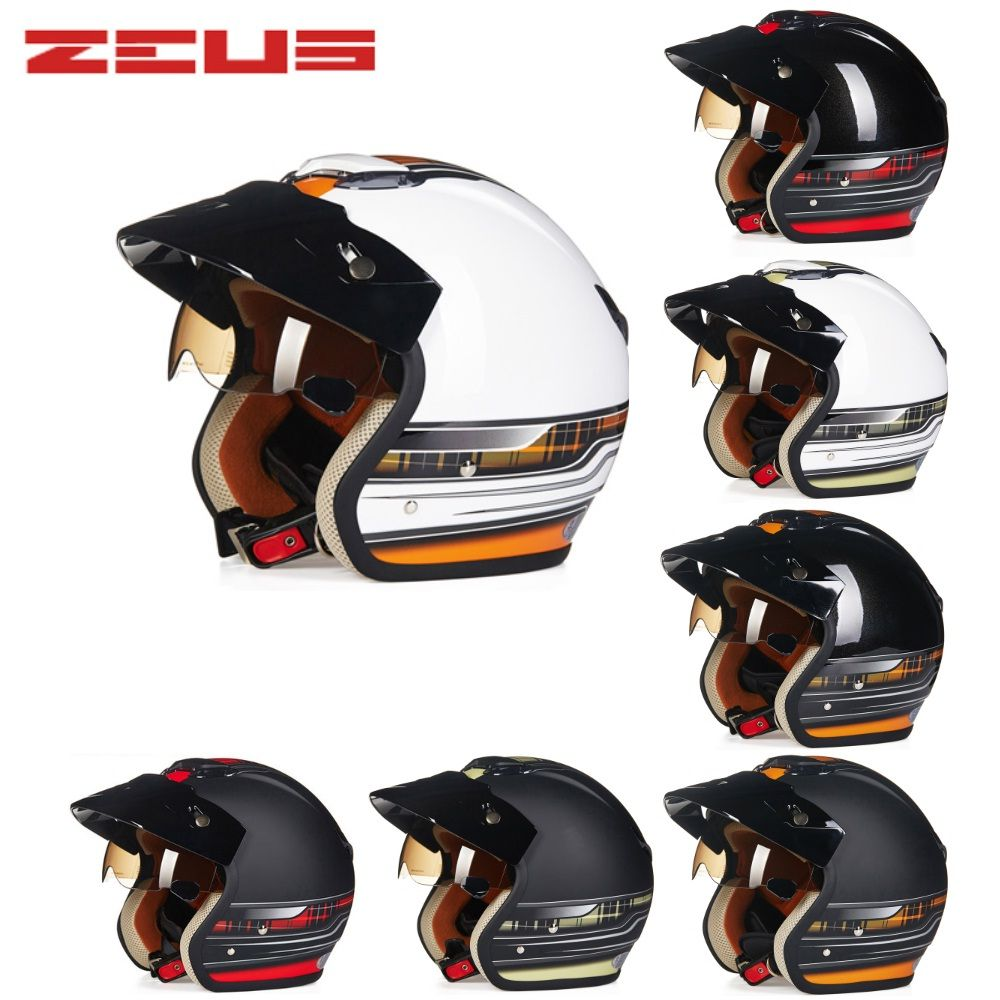 Free Shipping 1pcs ABS 3/4 Open Face Ece Approved Vintage Retro Moto Casco scooter capacete Motorcycle Helmet With Sun Visor