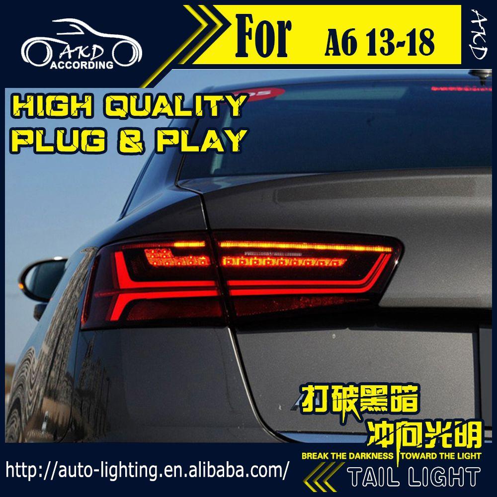 AKD Auto Styling Schwanz Lampe für Audi A6 Schwanz Lichter 2013-2018 A6L C7 LED Rücklicht Signal LED DRL Stop Hinten Lampe Zubehör