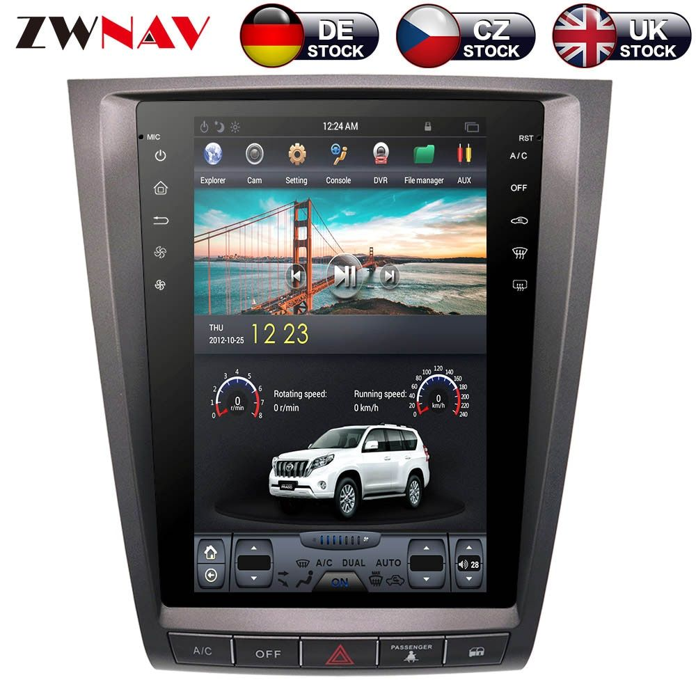 ZWNVA Tesla IPS Screen Android System Auto Keine DVD-Player Radio GPS Navigation Für lexus GS GS300 GS350 GS450 GS460 2004-2011